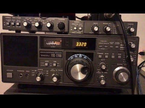 Radio Sonder Grense 3320 kHz, Meyerton South Africa, reception at home on vintage Yaesu FRG-7700