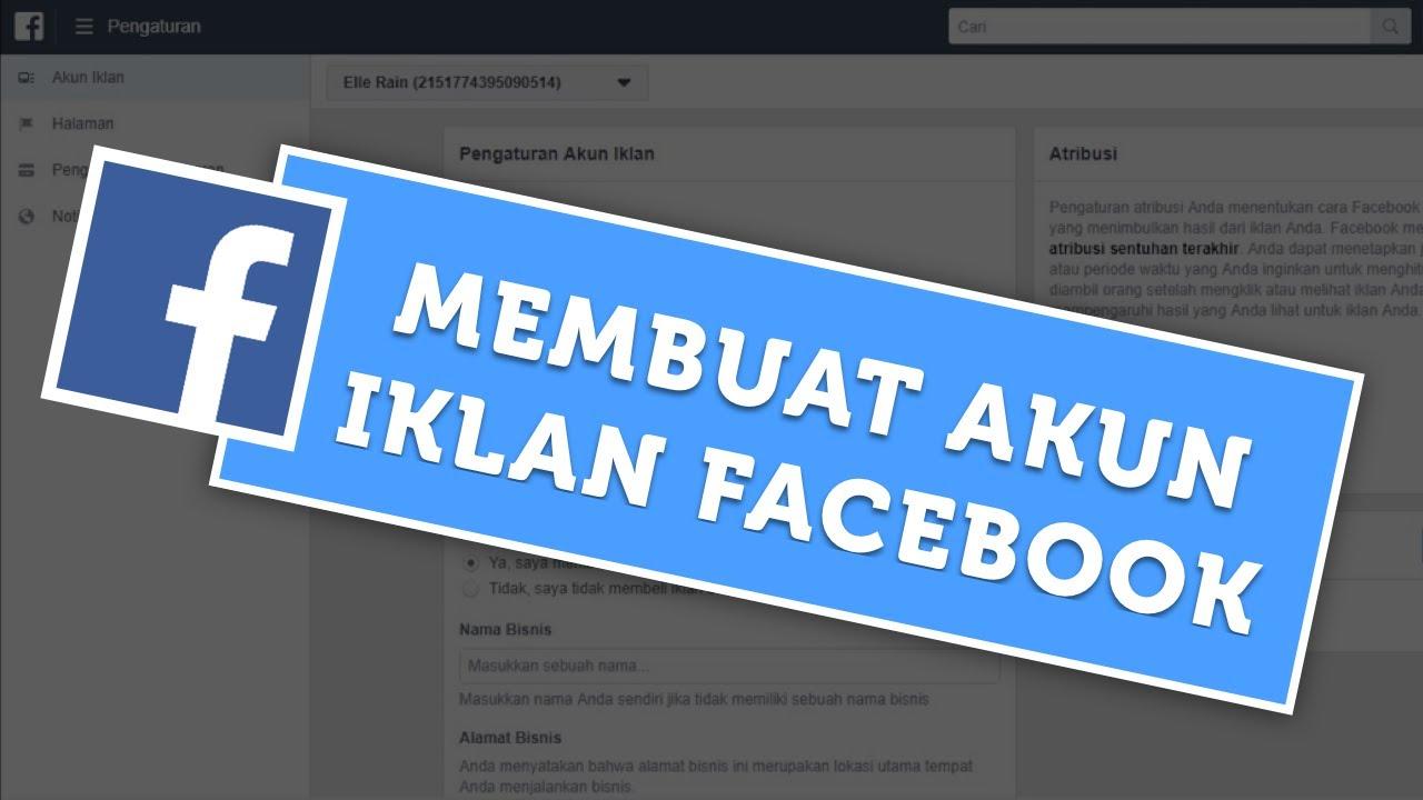 cara membuat akun iklan facebook untuk pemula berdu id