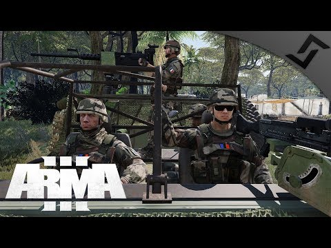 French Marine Special Forces - ArmA 3 - M249 CQB Jungle Village Fight
