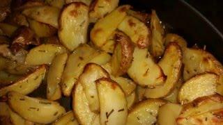 Запеченная картошка в розмарине