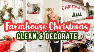 CHRISTMAS CLEAN AND DECORATE WITH ME (PART I) ✨🎄 FARMHOUSE CHRISTMAS DECOR 2019