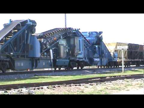 Georgetown Railroad Equipment GREX Dump Train on Union Pacific