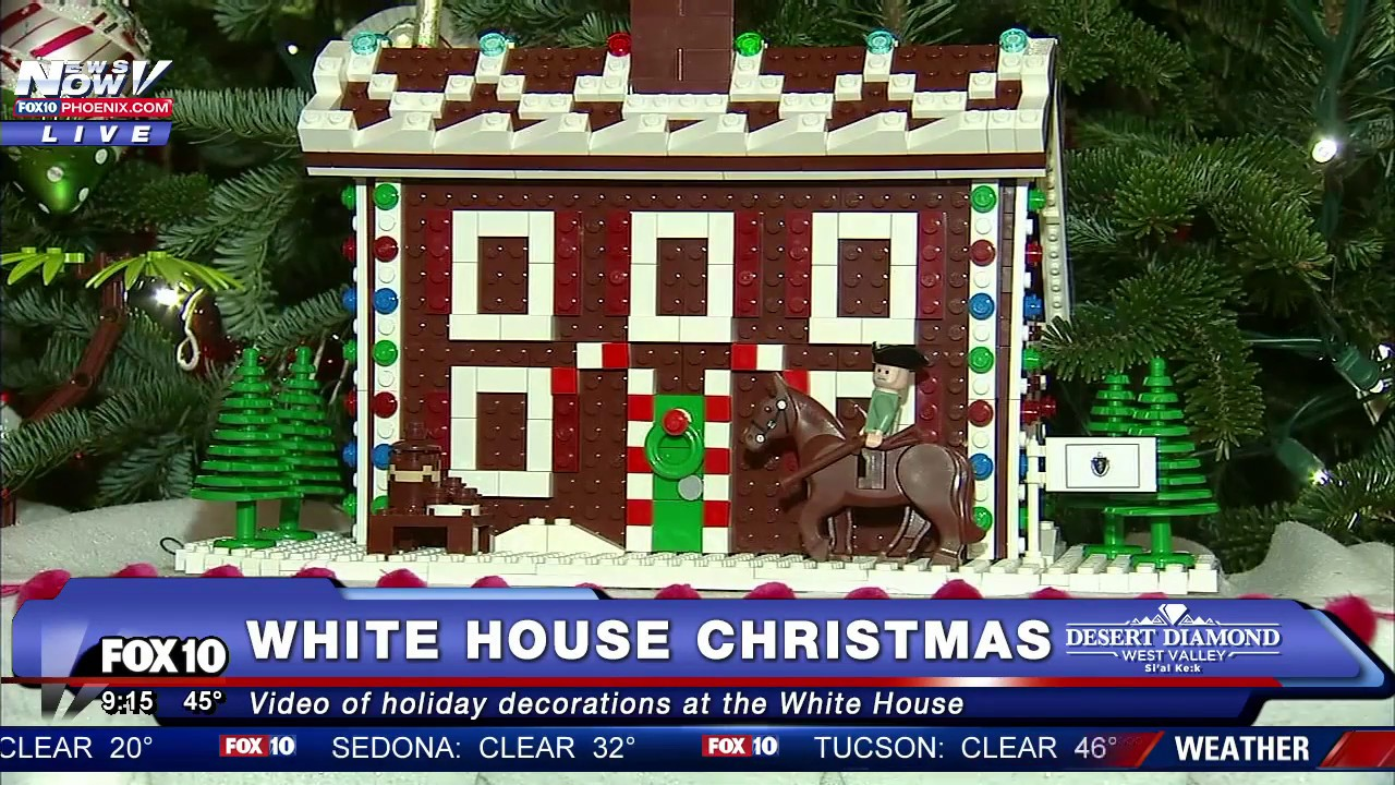 Holiday decorations at the white house are displayed during a press - First Look 2016 Christmas Decorations Inside The White House