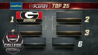 Georgia remains No. 1 in new College Football Playoff rankings | ESPN