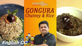venkatesh bhat makes gongura chutney and gongura rice