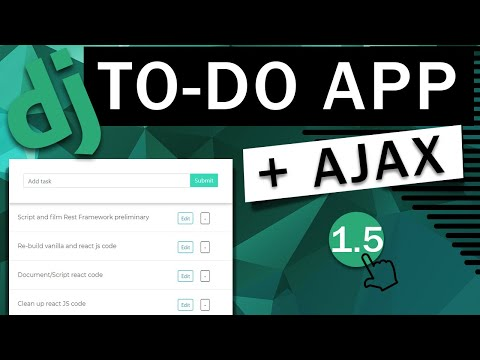 Todo App   Django REST Framework  & Ajax