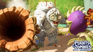 Acorn and Oak vs Ice Yeti Boss - Plants vs Zombies Battle for Neighborville - Gameplay Part 63
