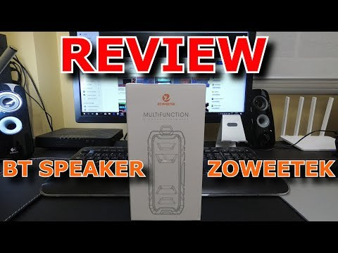 UNBOXING Y REVIEW ALTAVOZ BLUETOOTH ZOWEETEK