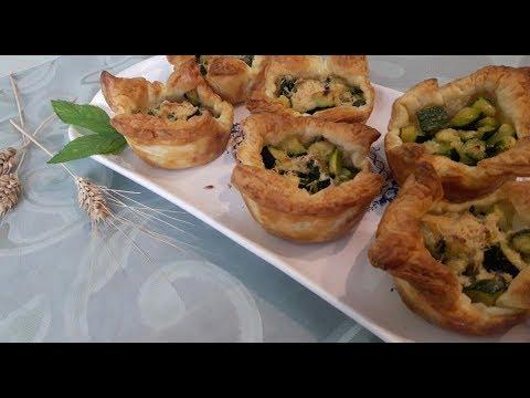 Cestini Di Pasta Sfoglia Con Cubetti Di Zucchina Youtube