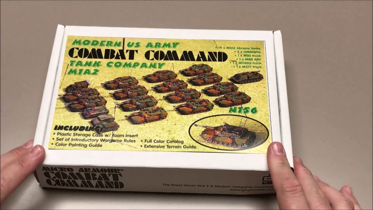 Unboxing of GHQ Modern US Army Tank Company M1A2 Combat Command