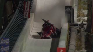 Repeat youtube video American bobsled crashed in Calgary