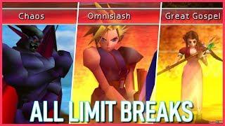 Final Fantasy VII All Limit Breaks