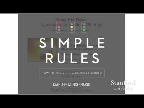Stanford Webinar  Simple Rules for Thriving in a Complex World