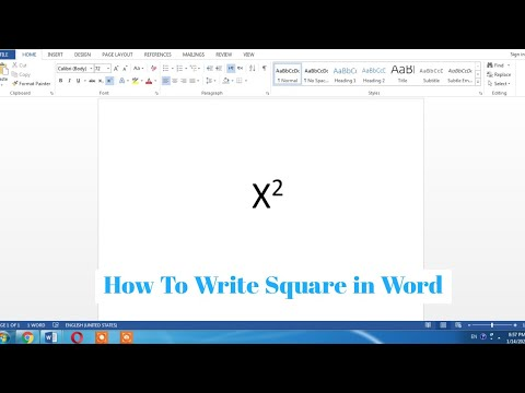 How To Type Square In Word Document | Write Squared Symbol In Word Easy | Type X Square