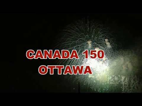 CANADA Day 150 Ottawa Fireworks 2017