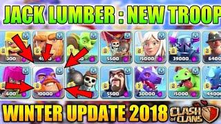 New Troop : Lumber Jack-Clash Of Clans Winter Update 2018