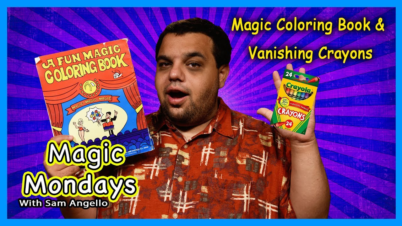 magic coloring book vanishing crayola crayons magic trick - Coloring Book Magic Trick