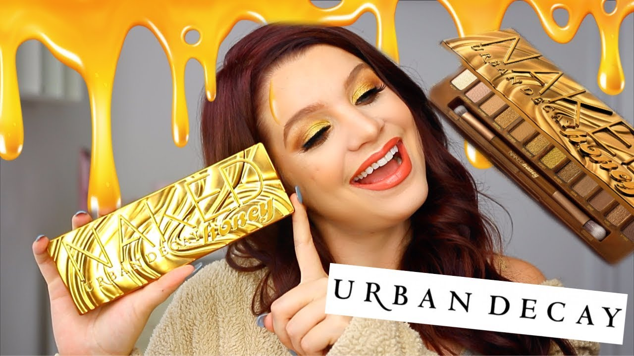 Urban Decay Naked Honey palette easy eye makeup tutorial