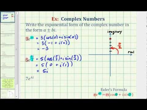 Ex: Convert a Complex Number in Exponential Form to Cartesian Form ...