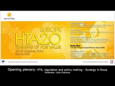 2. Opening plenary: HTA, regulation and policy making – Synergy in focus