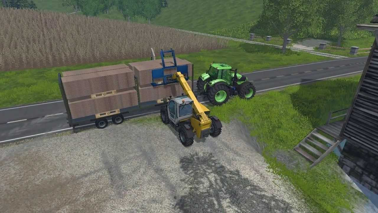 Fs 15 Wood Pallets Trailer Fork Youtube
