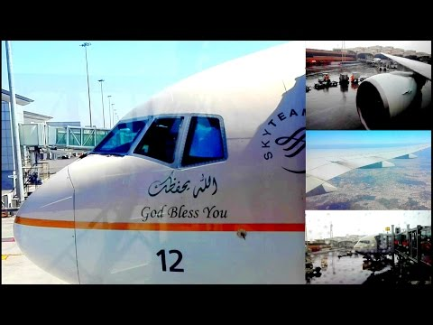 Saudi Arabian Airlines B777-368ER Hyderabad To Riyadh Flight Review SV753