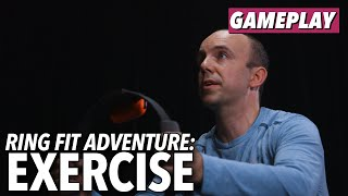 Ring Fit Adventure Gameplay - Exercise