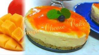 Marvelous Mango Cheesecake Recipe Video By Bhavna - No Bake & Eggless!