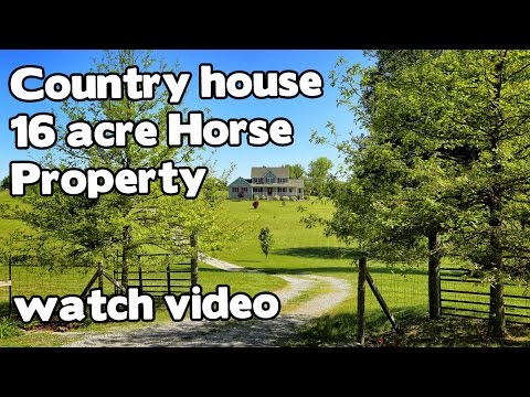 Beautiful Country house for sale in Kentucky, 16 acre Horse Property in Historic Perryville Kentucky