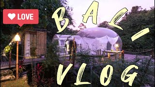 Gambar cover BALI VLOG : The Coolest Airbnb in Bali ! Bubble hotel ? Part 1 [ Our Honeymoon ]
