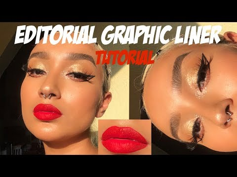 EDITORIAL GRAPHIC LINER + RED LIPS TUTORIAL thumbnail