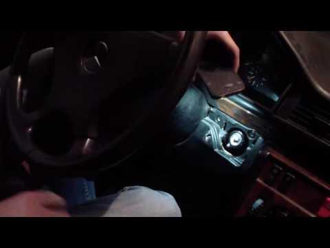 Mercedes w124 Заклинил замок зажигания/ Замена личинки