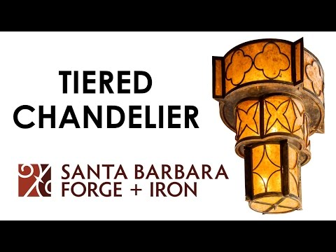 Santa Barbara Forge + Iron: Tiered Chandelier