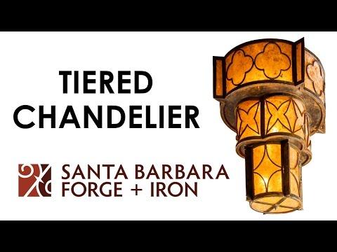 Santa Barbara Forge + Iron: Tiered Chandelier