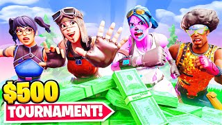 I Hosted a $500 Tournament in Fortnite... (biggest tournament ever)