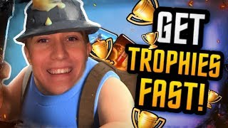 FREE TO PLAY TROPHY PUSHING! 2.6 Miner Poison Deck  — Clash Royale