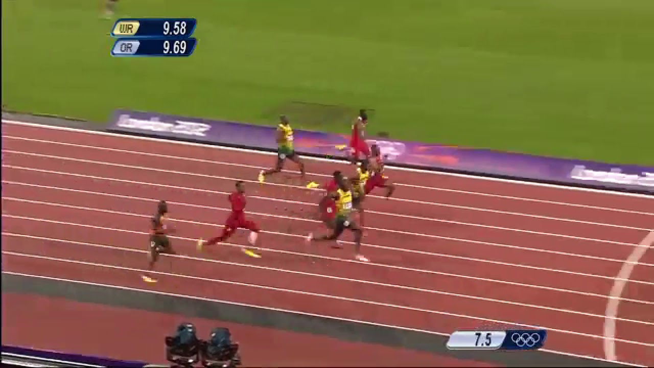 Usain bolt 100m jo londre 2012 - YouTube