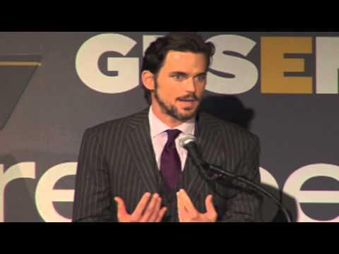 Matt Bomer & Simon Halls accept GLSEN's 2012 Inspiration Award