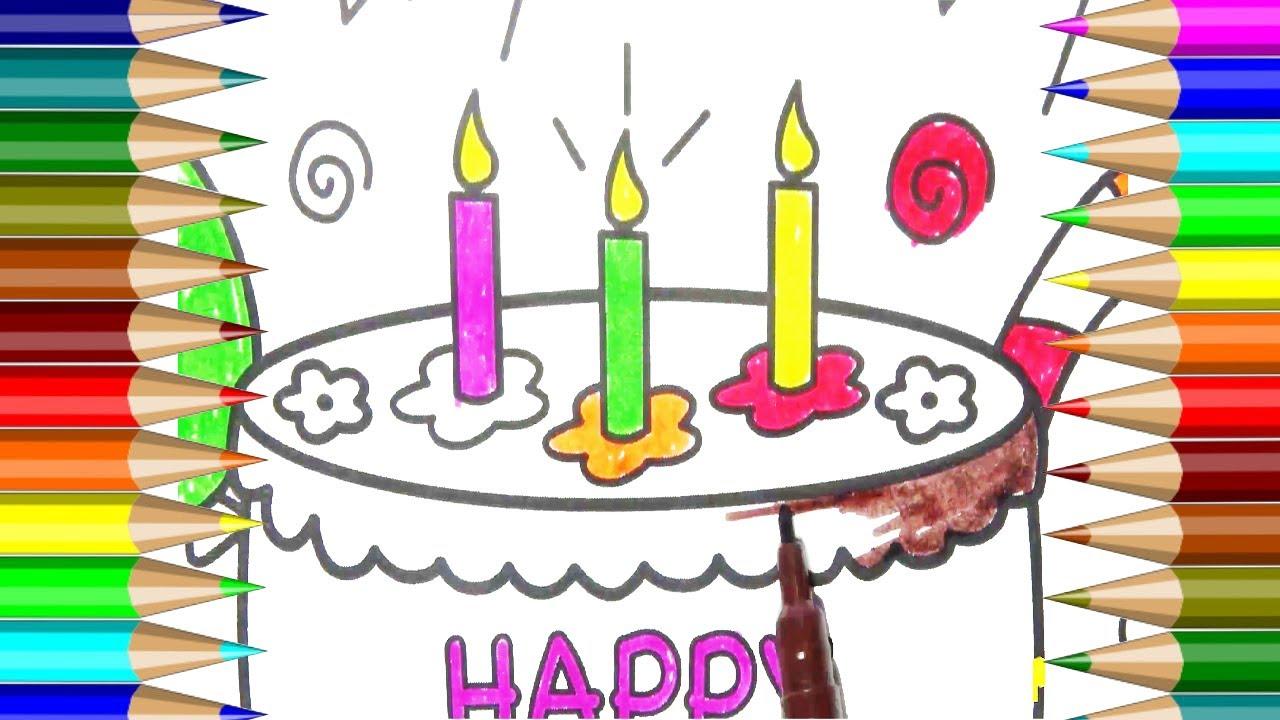 Pastel Dibujo Animado Para Colorear. Cupcake Para Colorear Cupcakes ...