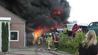 Grote Brand Bij Autosloperij In Hoogeveen 1 8 2020