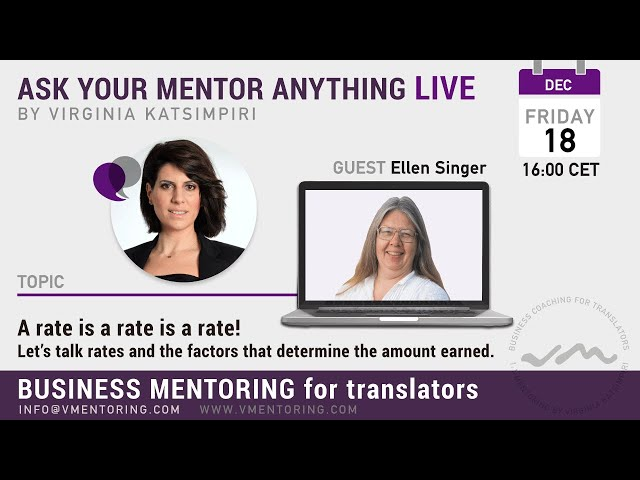 Ask Your Mentor Anything with Virginia Katsimpiri FT. Ellen Singer