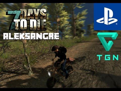 7 Days to Die PS4 - Gameplay en Español HD - Noche 49 - Minimoto y tragedia - ALEKSANGRE