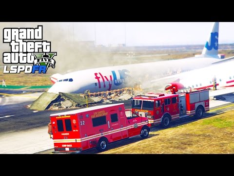 GTA 5 Police Mod | LSPDFR #108 - Plane Crash At The Airport