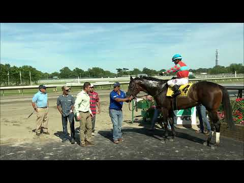 video thumbnail for MONMOUTH PARK 6-8-19 RACE 9 – THE UNBRIDLED ELAINE STAKES