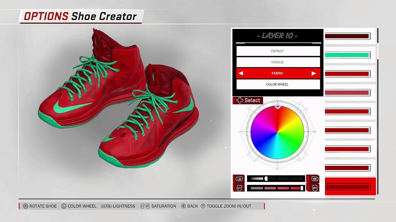 23a00aee010 NBA 2K18 Shoe Creator - Nike LeBron 10