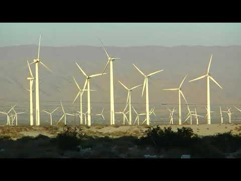 Wind Turbines in Palm Springs California