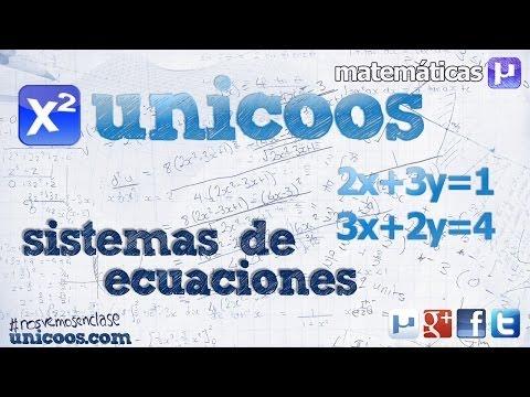 Sistema de ecuaciones - Metodo de reduccion 2ºESO incognitas unicoos matematicas