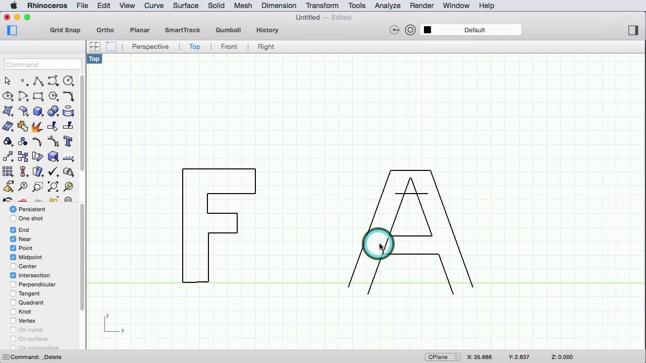 drawing with line tools