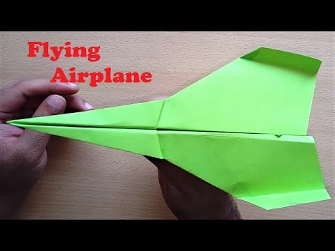Paper Flying Airplane that Flies Forever - Paper Plane Tutorial - Making Airplane