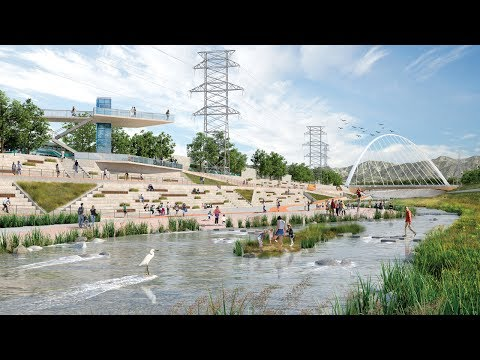 Los Angeles River revitalised in proposals by seven architecture firms
